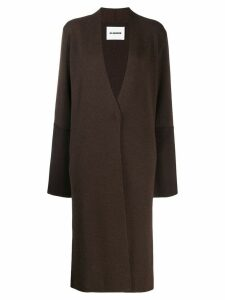 Jil Sander cashmere midi coat - Brown
