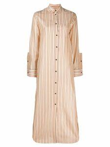 Jil Sander long striped shirt dress - Neutrals