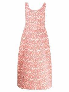 Jil Sander jacquard midi dress - Pink