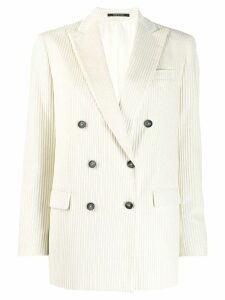 Tagliatore ribbed corduroy blazer - White