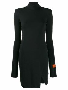 Heron Preston turtle neck jersey dress - Black