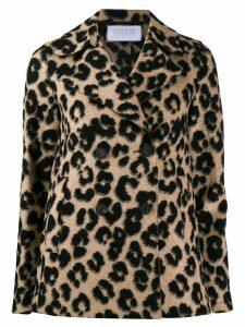 Harris Wharf London leopard bouclé jacket - Neutrals