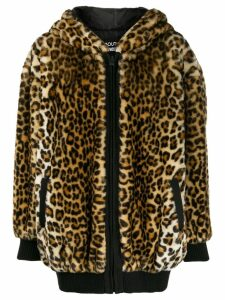 Boutique Moschino leopard print coat - Brown