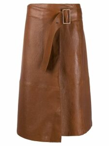 Luisa Cerano A-line midi skirt - Brown