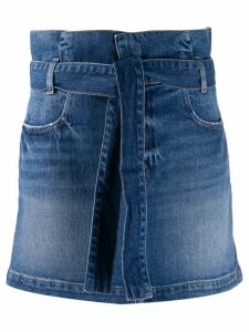 FRAME paperbag waist denim skirt - Blue