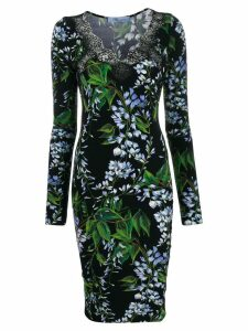 Blumarine lace V-neck dress - Black