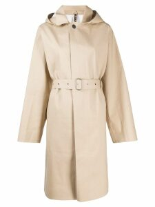 Jil Sander hooded belted trench coat - Neutrals