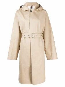 Jil Sander hooded belted trench coat - NEUTRALS