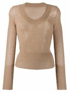 Jacquemus V-neck sweater - Neutrals