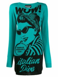 Boutique Moschino 'Italian Diva' knitted dress - Blue