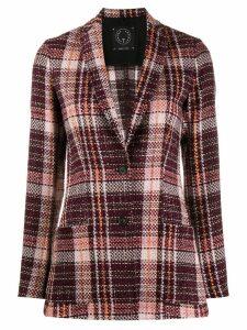 T Jacket plaid coat - Purple