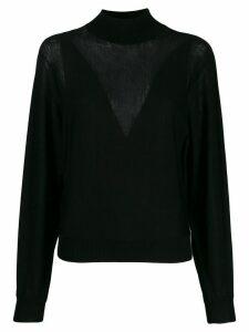 Alberta Ferretti cable knit jumper - Black