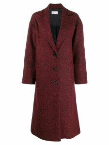 Red Valentino herringbone long coat