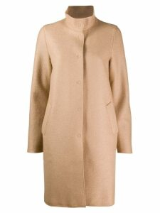 Harris Wharf London high neck coat - Neutrals