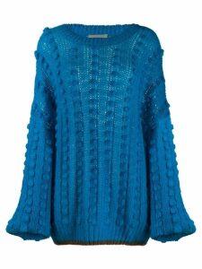 Marco De Vincenzo oversized pompom jumper - Blue