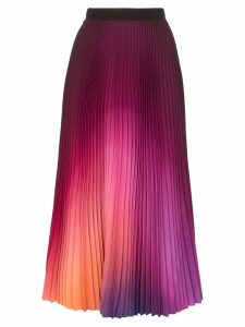 Mary Katrantzou gradient pleated midi skirt - Pink