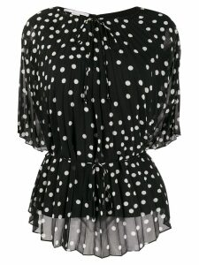 Stella McCartney dotted pleated blouse - Black
