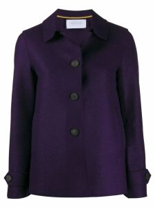 Harris Wharf London single-breasted coat - Purple