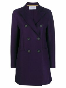 Harris Wharf London double-breasted coat - PURPLE