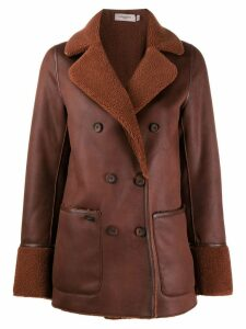 Urbancode shearling lined coat - Brown