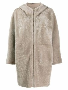 Salvatore Santoro hooded coat - Grey