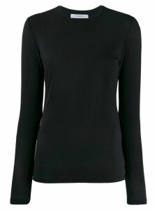Max Mara plain long-sleeved top - Blue