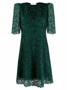 Sandro Paris v-neck lace short dress - Green