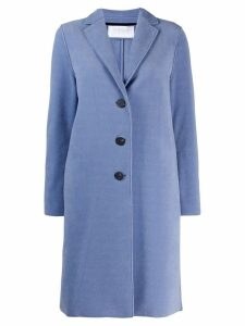 Harris Wharf London single-breasted fitted coat - Blue