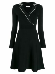 Sandro Paris faux-pearl trim dress - Black