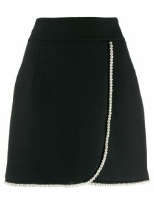 Sandro Paris pearl-embellished wrap skirt - Black