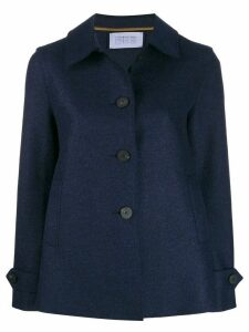 Harris Wharf London A-line coat - Blue