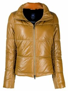 Jacob Cohen quilted high-neck jacket - Brown