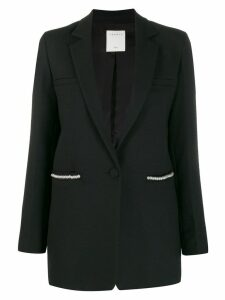 Sandro Paris pearl trim blazer - Black