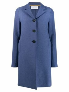 Harris Wharf London single-breasted coat - Blue