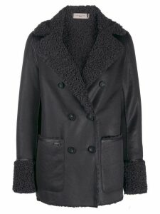 Urbancode shearling lined coat - Blue
