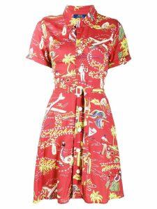 Polo Ralph Lauren Tropical print shirt dress - Red
