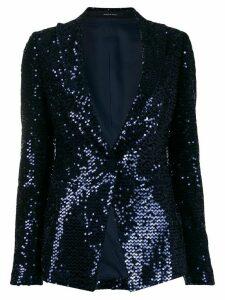 Tagliatore Gilda sequin blazer - Blue