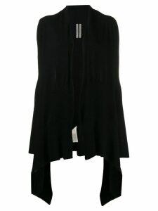 Rick Owens long wrap cardigan - Black