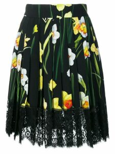 Dolce & Gabbana floral flared skirt - Black