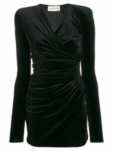 Alexandre Vauthier velvet draped mini dress - Black