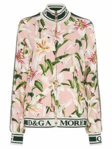 Dolce & Gabbana Cady lily-print track jacket - Multicolour