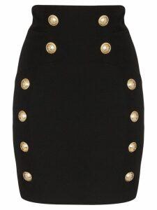 Balmain button-detail mini skirt - Black