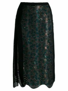 Marco De Vincenzo sequin embellished skirt - Black