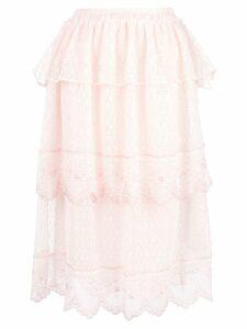 Simone Rocha frill tiered skirt - PINK