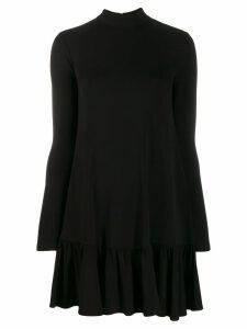 Elisabetta Franchi ruffled hem mini dress - Black