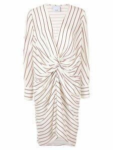 Acler Weston twist midi dress - White