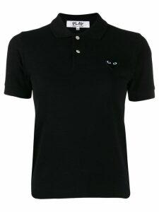 Comme Des Garçons Play embroidered heart polo shirt - Black