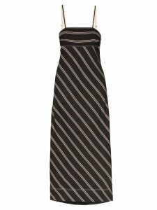 Lee Mathews madox striped maxi dress - Black