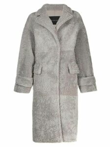 Blancha Irish shearling coat - Grey