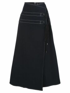 Adeam A-line wrap skirt - Black